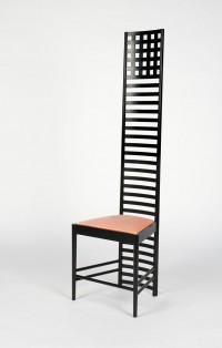 Lippisches landesmuseum stuhl von c r mackintosh for Stuhl mit hoher lehne