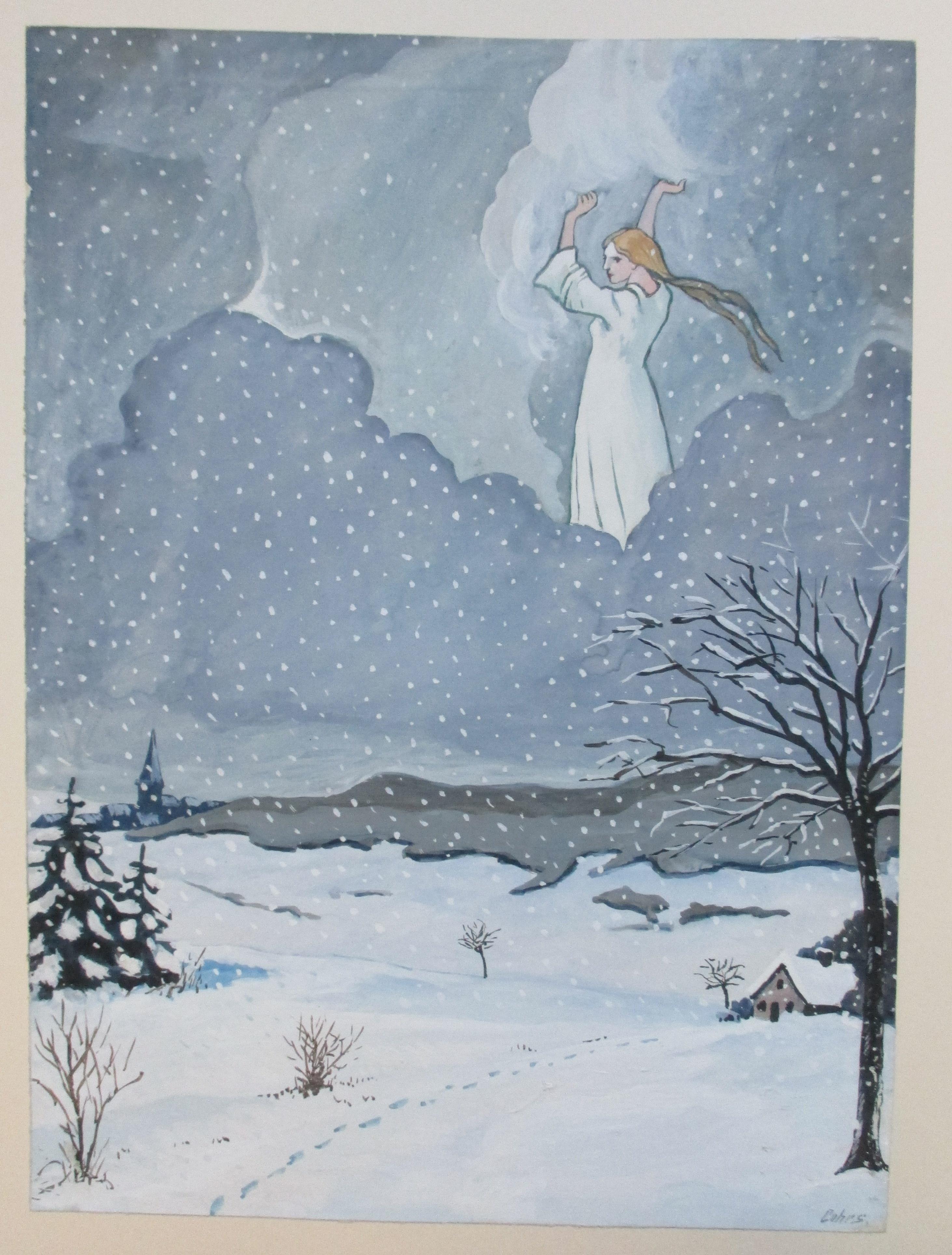 frau holle bringt den schnee  deutsches märchen und